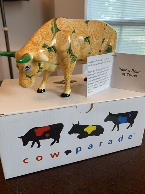 The Cow Parade Yellow Rose Of Texas