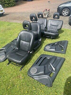 Toyota Rav4 Black Leather Seats Interior C/W Door Cards 5dr