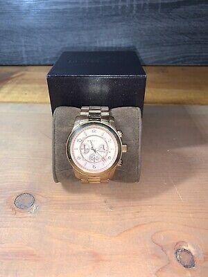 MICHAEL KORS MK8096 ROSE GOLD TONE CHRONOGRAPH RUNWAY WATCH 44Mmm SMALL WRIST
