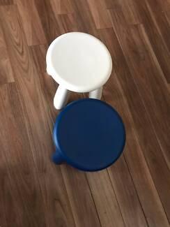 Two IKEA MAMMUT Children's stool