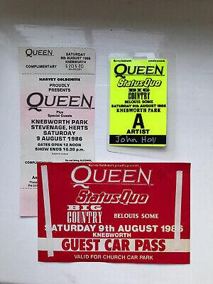 RARE Queen Memorabilia Bundle from Knebworth 1986