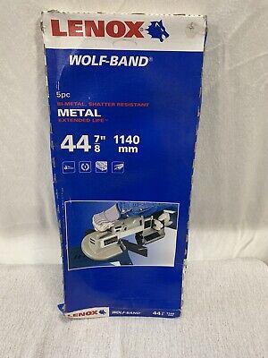 Lenox Wolf Band Potable Band Saw Blades 5 Pack Metal 44 78