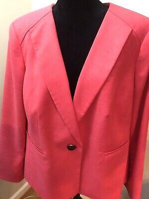 Jones Studio Separates Women's Coral Red Jacket Size 16W