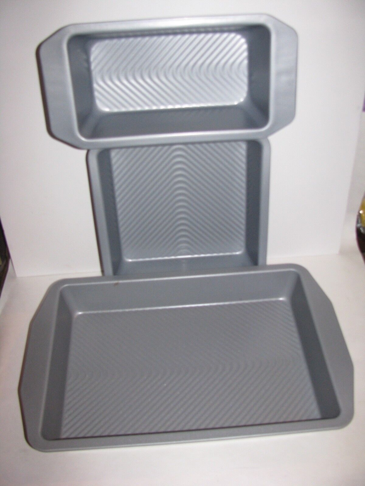 Usa Pans, Rectangle and Square Cake Pan and Loaf Pan, New 2n