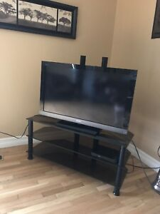 Tv stand with mounting bracket up 52-55 inch full swivel
