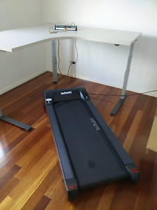 Adjustable height standup desk with walking treadmill Upper Coomera Gold Coast North Preview