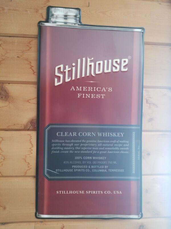 Stillhouse Whiskey Large Embossed Metal Tin Sign Bar Advertising Display Mancave