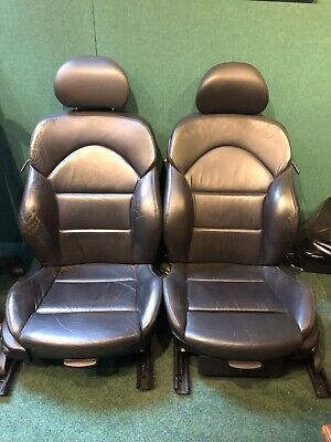 BMW E46 M3 Coupe Pair of Front Electric Black Leather Seats