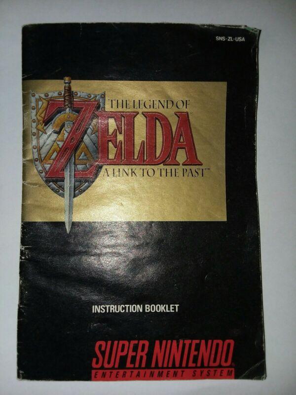 SNES Super Nintendo LEGEND of ZELDA - A LINK TO THE PAST Instruction Manual Only