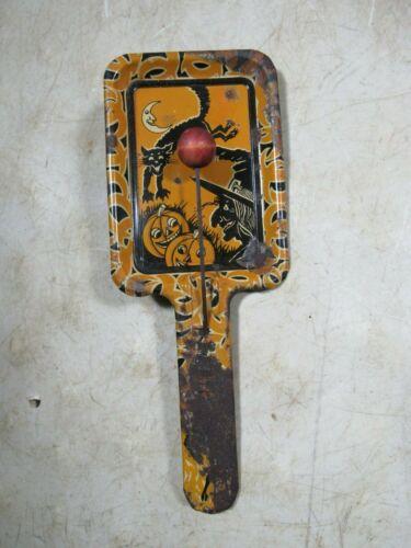 Vintage/Antique 1930s/40s Kirchhof Newark NJ Tin Halloween Noisemaker Clapper