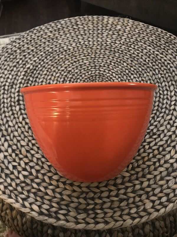 Vintage Fiesta Fiestaware Nesting #6 Orange Red Mixing Bowl