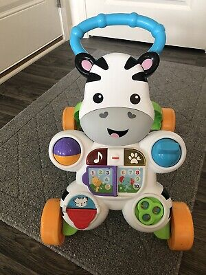 Fisher-Price Learn with Me Zebra Walker New Baby Toy Walker - Mint Condition