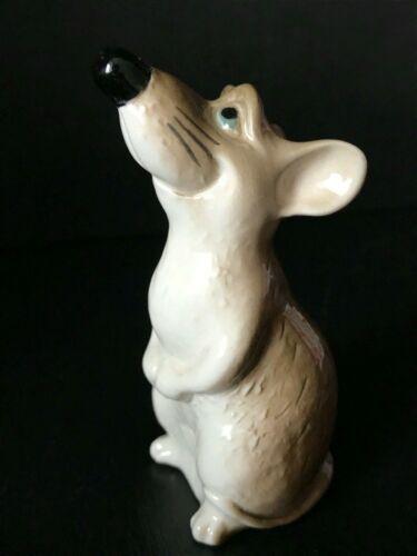 Rat figurine porcelain handmade super happy souvenir