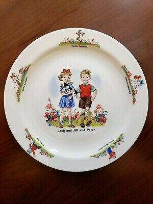 RARE Vintage 1950's Beswick Jack, Jill, Patch Nursery Collectible China Plate for sale  Ellicott City
