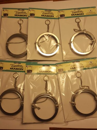6 - CHAIN HANGERS WIDE MOUTH BALL JARS TRANSFORM MASON JAR 1036301 Free Shipping