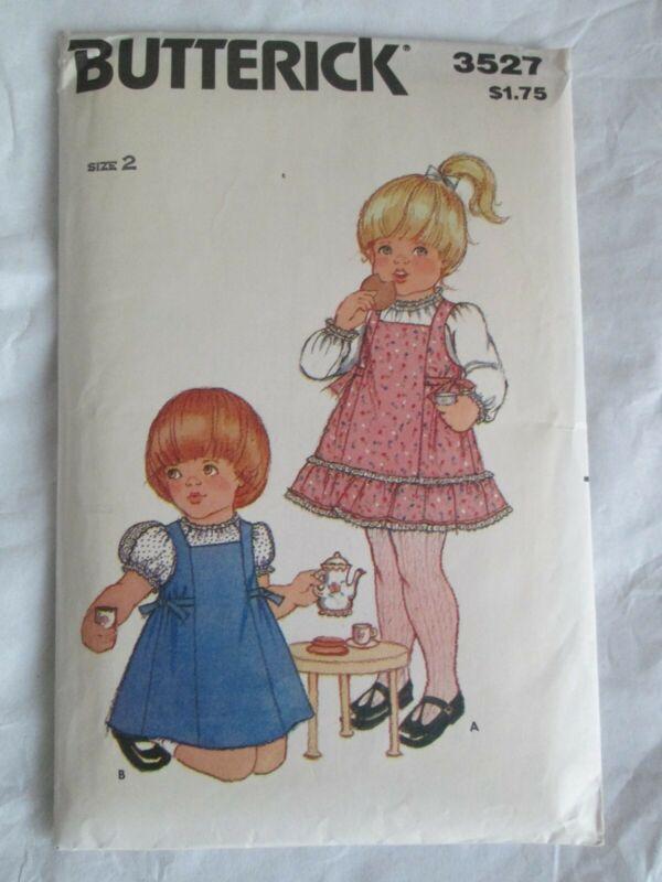 Vintage Butterick Pattern 3527 Size 2 Toddlers