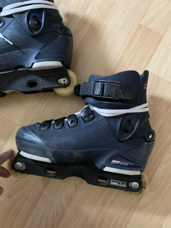 Salomon St10  Blue Aggressive Inline Skates Rollerblades Junior Size 5