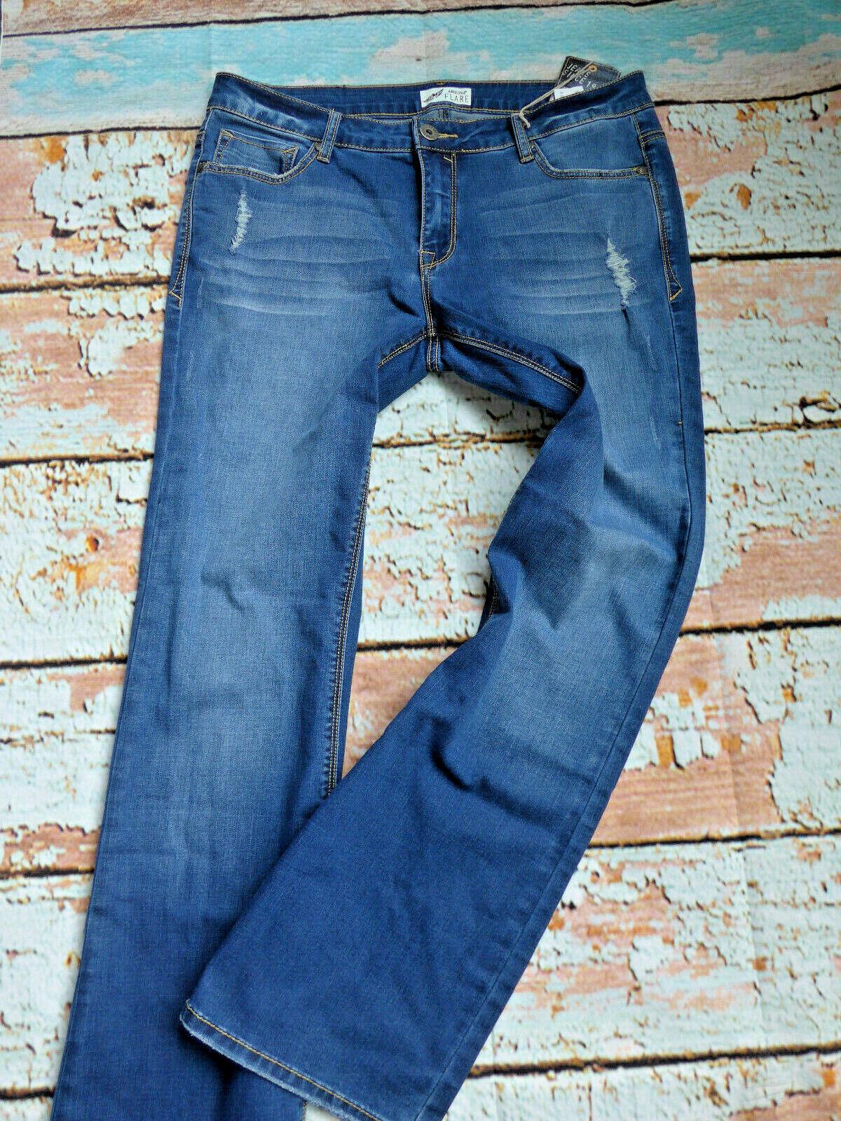 Arizona Damen Jeans Hose blau blue Aufrauungen (209) Übergröße NEU