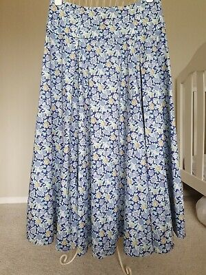 Laura Ashley midi/maxi cotton 'vintage' skirt medium