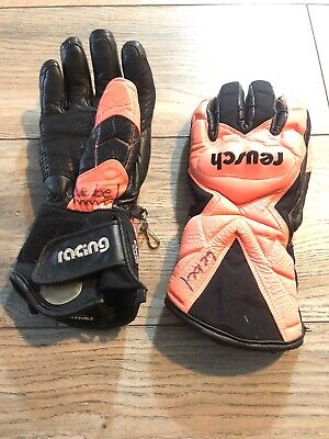 Pink Ski Gloves - Vintage Reusch Ski Gloves Racing Padded Size XSmall Pink Black