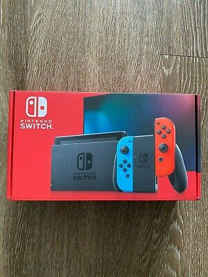Nintendo Switch 32GB Console V2 with Neon Blue Red Joy-Con Brand New SHIPS TODAY
