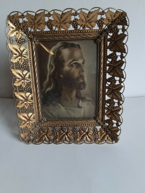 Vintage Picture Of Jesus By Runci In Frame