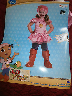 HALLOWEEN COSTUME DISNEY JAKE NEVERLAND PIRATES IZZY KIDS INFANT BABY TODDLER
