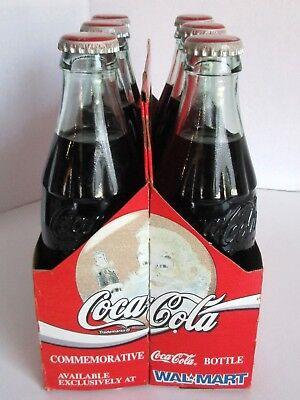 Coca Cola 6 Pack Walmart Commemorative Christmas Bottle 8oz 1994 w Carrier