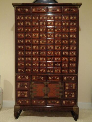 _Chinese 96 Drawers Reproduction Apothecary Medicine Herbal Cabinet fm S. Korea