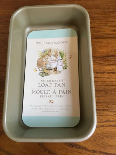 Williams Sonoma Nordic Ware Peter Rabbit Loaf Pan Gold Colored Made in USA