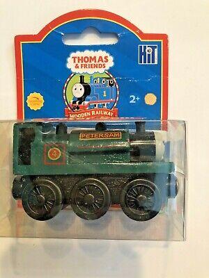 Thomas The Train Engine Wooden Peter Sam Green Car Bonus Collector Card