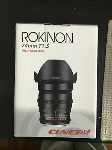 Rokinon 24mm T1.5 Cine DS lens for Canon EF mount - BRAND NEW