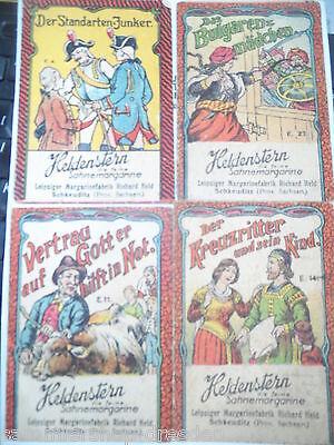 20439 Heldenstern Margarine 4 Werbehefte 1900 Bulgarenmädchen Kreuzritter Junker
