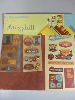 Daisy Hill CATS MEOW Scrapbooking Kit 12 x 12 Papers Stickers Love my cat Cat Scrapbook Kit