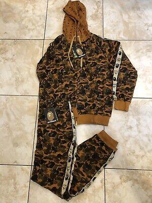 BROWN MCM A BATHING APE Set Outfit Bape Track Suit Size XXL XL L Fits SLIM! ASK!