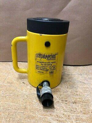 Used 50 Tons 6 Stroke Single Acting Hydraulic Cylinder With Lock Nut Jack