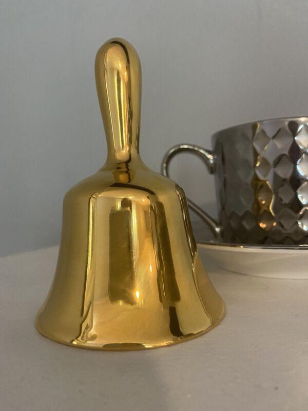 Stunning Gold Porcelain Hand bell Royal Winton Grimwades England Table Desk