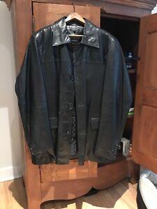 Manteau Rudsak en cuir large neuf