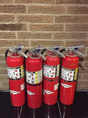 10lb Abc Fire Extinguisher Wall Bracket Tag Scratchdirty Set Of 4