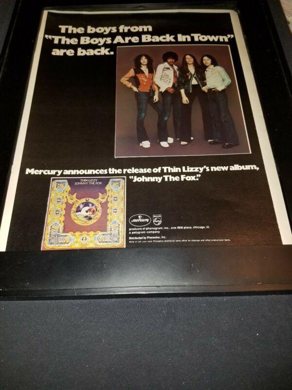 Thin Lizzy Johnny The Fox Rare Original Promo Poster Ad Framed!