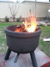 Truck brake drum Patio heater, Fire pit. Wood & Iron Ferndale Canning Area Preview