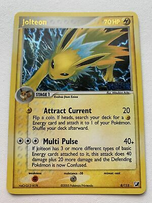 Jolteon 8/115 Reverse EX Unseen Forces NM/M Mint Pokemon Card