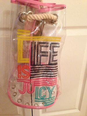 JUICY LIFE IS JUICY CLEAR VINYL BEACH BAG