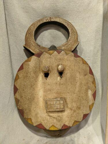 Ceremonial Baule Goli Mask — Subtle Colors — Authentic Carved African Wood Art