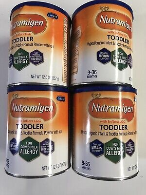 Enfamil Nutramigen with Enflora LGG Toddler Formula 12.6 oz Tubs Set of 4