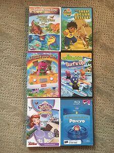 Six children's DVD