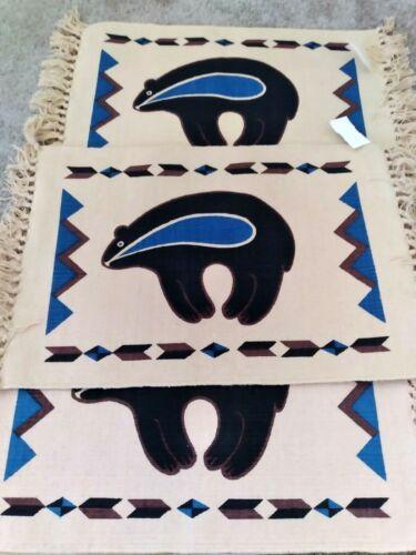 6 Unused TEE PEE Trading Post NM Native American Style Zuni Bear Table Mats