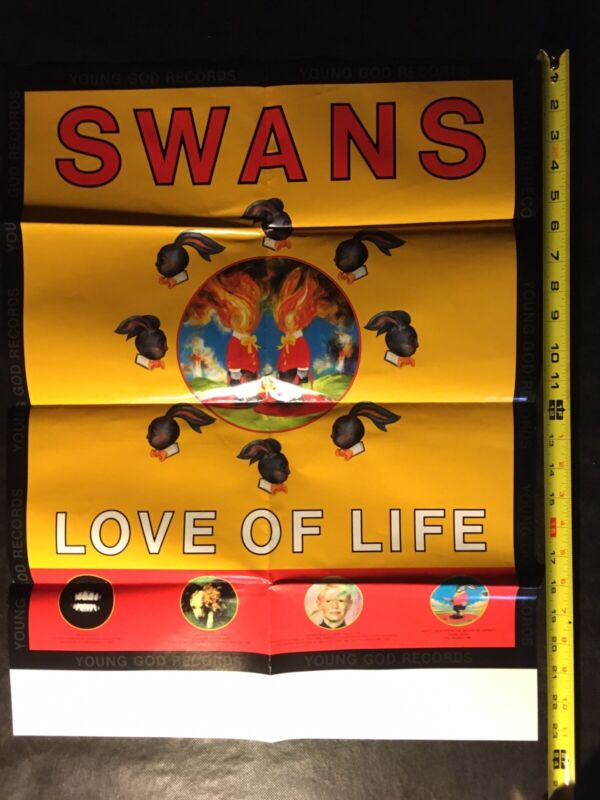 SWANS Love of Life Promo Poster Young God Records 18x24 Unused Tour Poster VG+