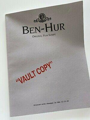Ben-Hur Original Film Script Vault Copy 1959.