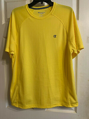 Champion Sport Powertrain Mens Yellow T-Shirt Top Size L for sale  Shipping to India